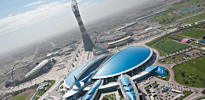 A panoramic view of the Aspire Zone.
