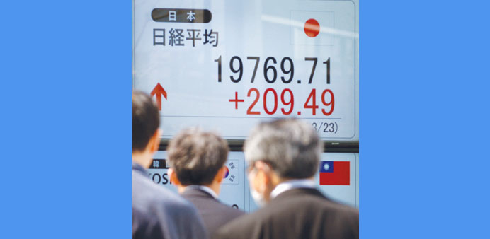 Asian stocks mostly up after US, Europe rally