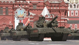 Russia marks WWII victory anniversary with military parade