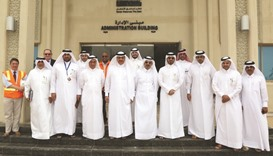Minister visits new Doha North Sewage Treatment Plant