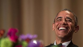 'Obama out': president gets in final laughs with US media