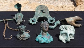 Artefacts from a merchant ship that sank off 1,600 years ago