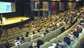 A session in progress at the conference