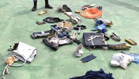 Some wreckage from crashed EgyptAir plane
