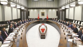 Erdogan chairs first meeting of Turkey cabinet