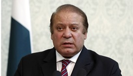 Pakistan Prime Minister Nawaz Sharif speaks during a joint news conference in Kabul, Afghanistan, Ma