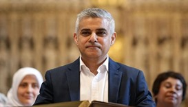 Khan sworn in as London's first Muslim mayor