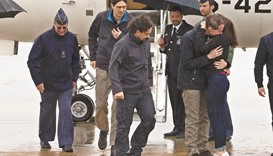 Journalists return to Spain after Syrian ordeal