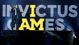 Britain's Prince Harry takes part in the opening ceremonies of the Invictus Games in Orlando