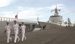 Chinese warships in Davao City on goodwill visit