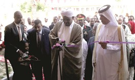 President Bashir inaugurates new Sudanese school in Doha