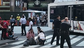 One killed after car slams into Times Square pedestrians