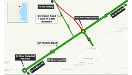 Temporary road closure near Al Khor Hospital