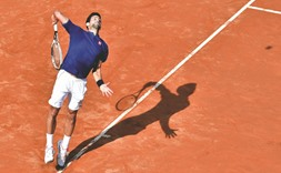 Djokovic on track for Paris, sets up Del Potro clash