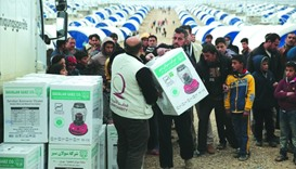 Qatar Charity provides relief materials to the people of Mosul