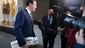 Britain's Osborne starts first day as newspaper editor