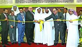 Al Meera officials during ribbon-cutting ceremony of the Leaibab 2 branch opening