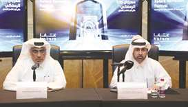 Dr Khalid bin Ibrahim al-Sulaiti, right, and Khalid Ibrahim al-Sayed