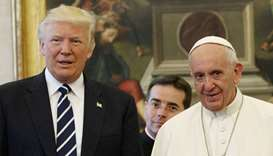 US President Donald Trump and Pope Francis meet at the Vatican