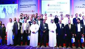 Some of the donors who were honoured at the event, along with HMC officials
