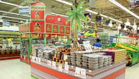 Popular consumer products for Ramadan on display at a hypermarket