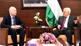 Trump's Middle East envoy meets Palestinian president