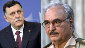 Government of National Accord (GNA) leader Fayez al-Sarraj and Field Marshal Khalifa Haftar