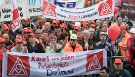 Thyssenkrupp steelworkers protest
