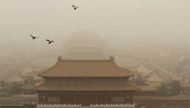 Dust storm envelops swathe of northern China
