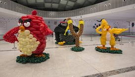 Airigami sculptures continue to attract mallgoers