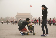 Sandstorm lashes Chinese capital