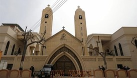 The Coptic church in Tanta, Egypt that was bombed on April 9