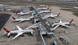 A general view of Terminal 3 at Heathrow Airport.