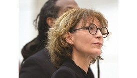Agnes Callamard, the UN special rapporteur on extra-judicial killings, stands as the Philippine nati