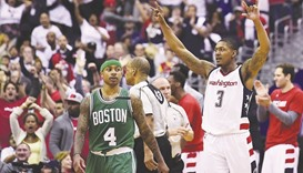 Celtics all even after Wizards use another big run in victory