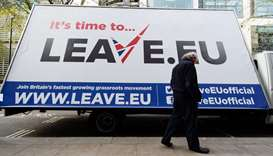 Brexit group fined for breaking spending rules in EU vote