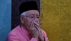 Ousted PM Najib listed on manifest for jet leaving Malaysia