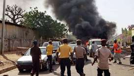 Mosque blasts kill at least 27 in northeast Nigeria
