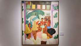 """""""The Rivals"""" by Diego Rivera is seen during a Christie's preview presenting the collection of Peggy"""
