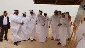 Ashghal's al-Kubaisi making a presentation on Al Shamal Development Project