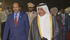 Somali President Mohamed Abdullahi Farmajo arrives in Doha
