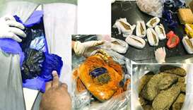 Customs officials seize illicit drug, chewing tobacco
