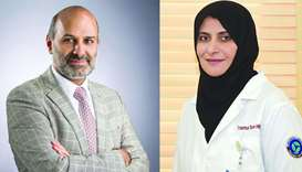 Dr Hassan al-Thani and Dr Aisha Fathi Abeid