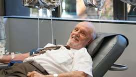 Australia's 'Man with the Golden Arm' gives blood for last time