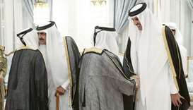 His Highness the Amir Sheikh Tamim bin Hamad al-Thani and His Highness the Father Amir Sheikh Hamad
