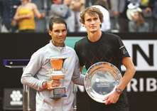 Nadal fights back against Zverev for victory in Rome