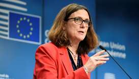 European Union Commissioner of Trade Cecilia Malmstrom