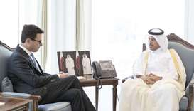 HE the Prime Minister and Minister of Interior Sheikh Abdullah bin Nasser bin Khalifa al-Thani meeti