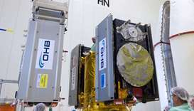 Galileo satellites at a lab (file photo)