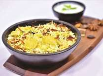 Charms of professionally cooked exotic biryani